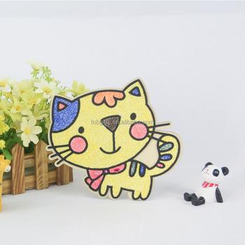 Sarı Kedi Kar Caly Diy Boyama çocuk Oyuncakları Oynamak El Sanatları