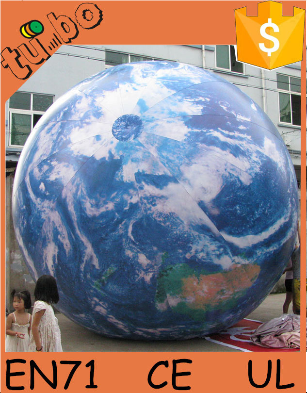 custom LED inflatable solar system planet ocean balloon decorations / giant inflatable globe for show or activity
