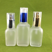 Wholesale Colored Square Glass Refill Empty Perfume Atomizer Spray Bottle