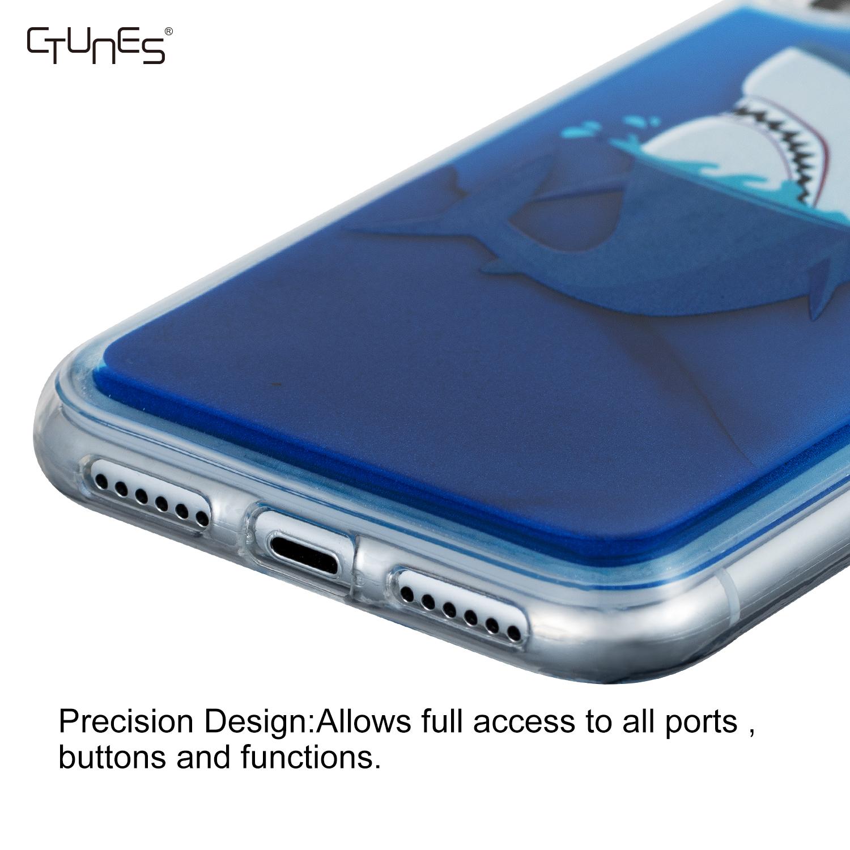 CTUNES Neon Zand Quicksand Glitter Liquid Fluorescent Glow in The Dark Custom Design Telefoon Case Voor iPhone Xs Max