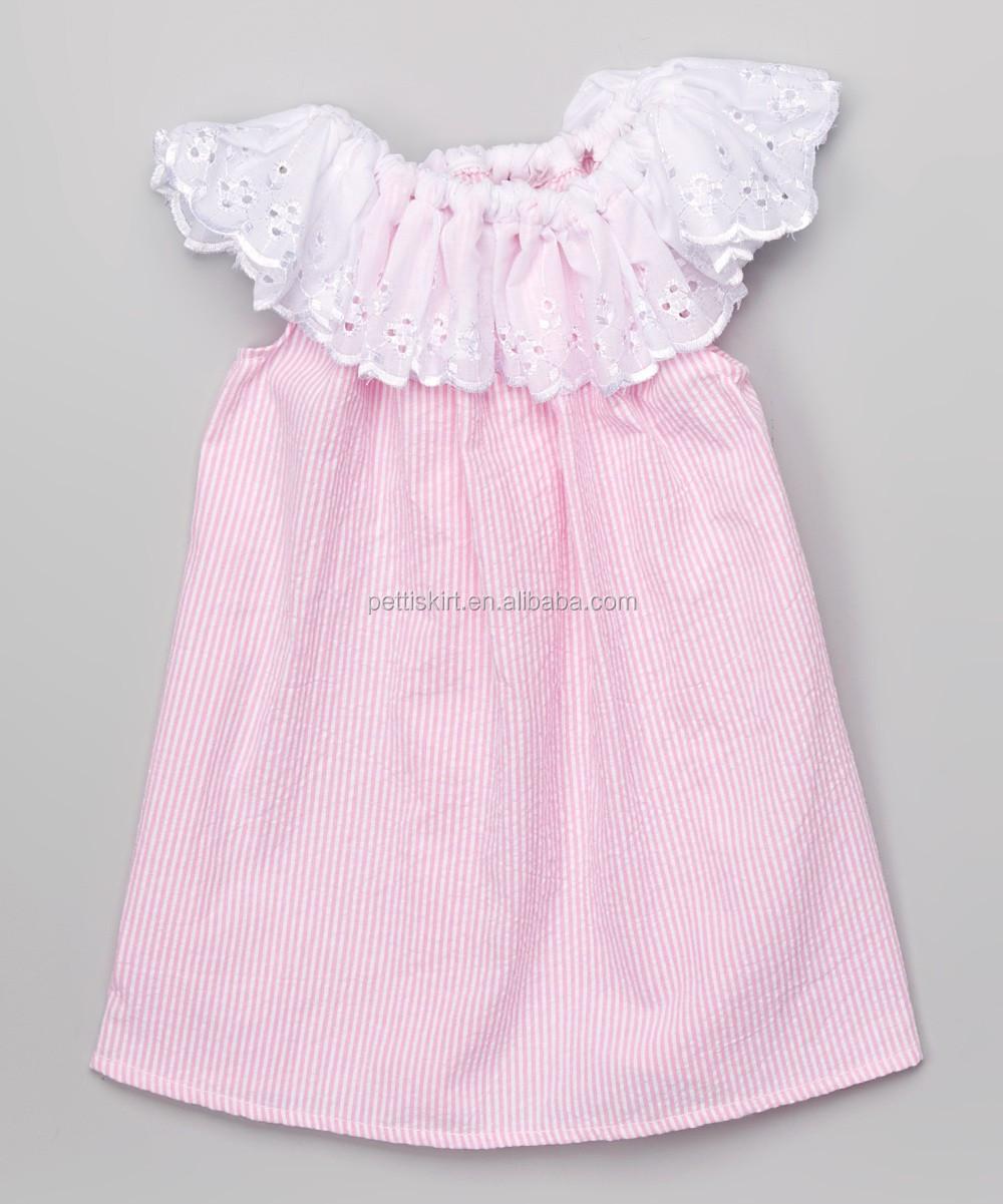 f76e6c91b Girls Clothes Green Seersucker Smocked Dress Children Summer Dress ...