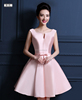 Pink Color Stock The new 2016 party evening dress lady host dress short bridesmaid dresses