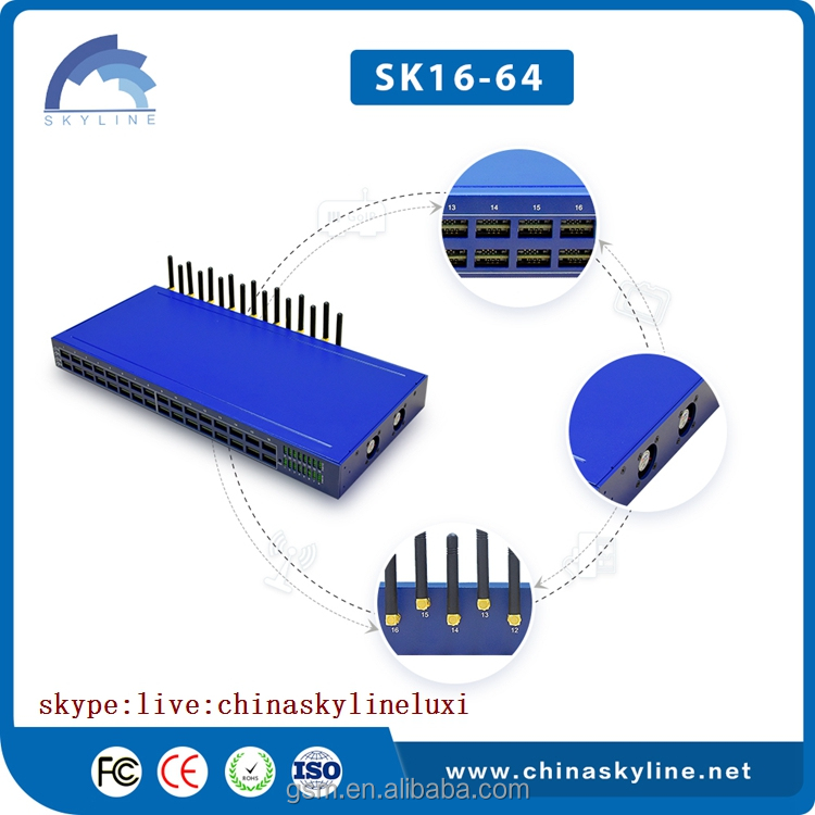 GSM SK 16-64 gvoip gsm gateway goip/gsm fixed cellular terminal box/call senter equipment
