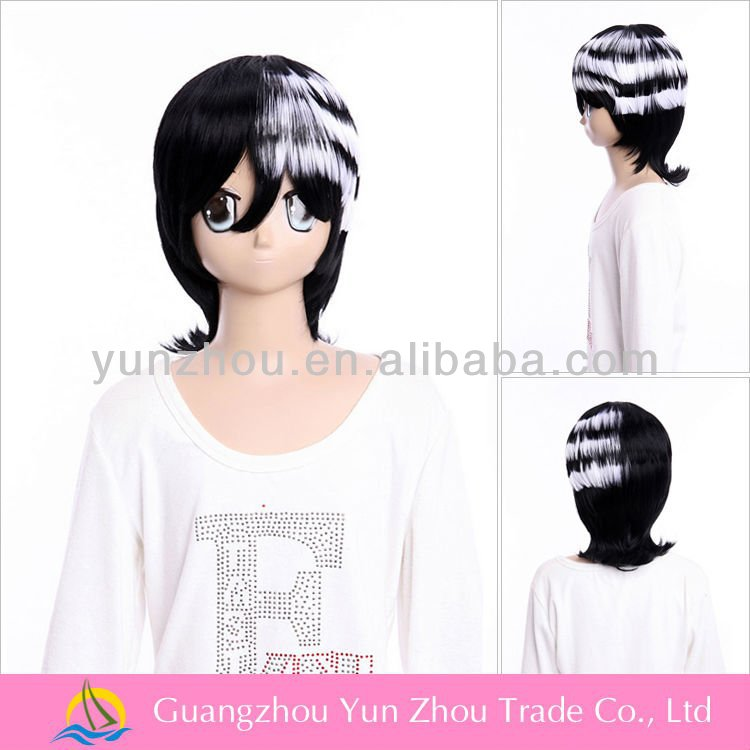 Factory high quality wigs made in china cosplay SOUL EATER DEAT THE KID