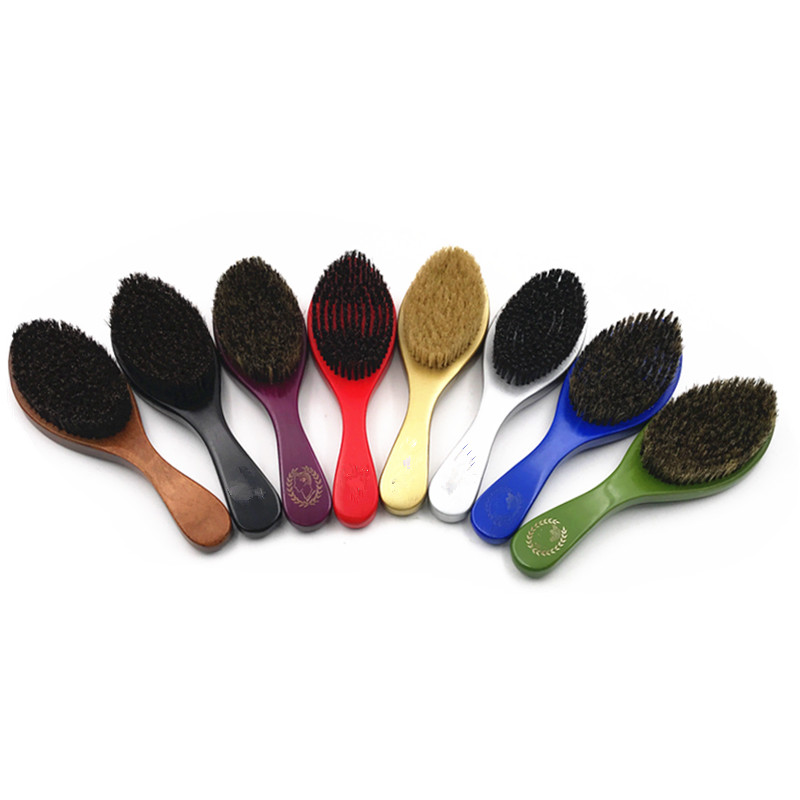 2019 Hot Selling Wooden Curved Wave Brush And Wave Hair Brush And 360 Wave Brush For All Type Hairs Wholesale