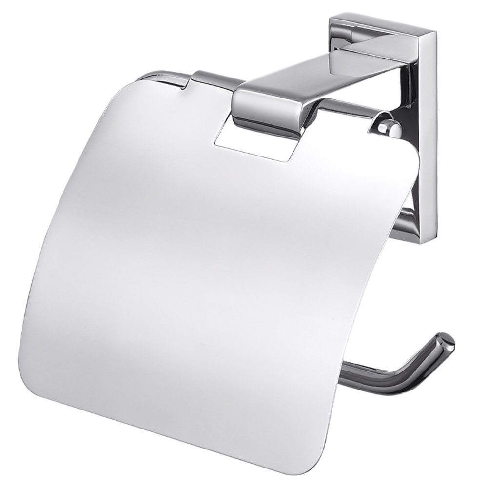 ZY Wall Mount Toilet Paper Holder, Stainless Steel/Waterproof/Paper Towel Holder/Bathroom Toilet Paper Holder with CoverToilet roll Holder