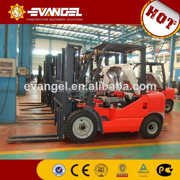 Longong/lonking 3ton forklift with Diesel engine automatic moving forks for exporting