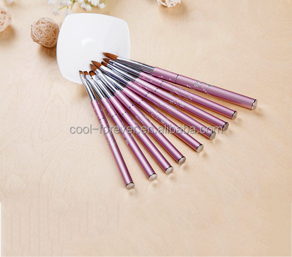 9pcs Nail Art brush UV 3d nail art brush