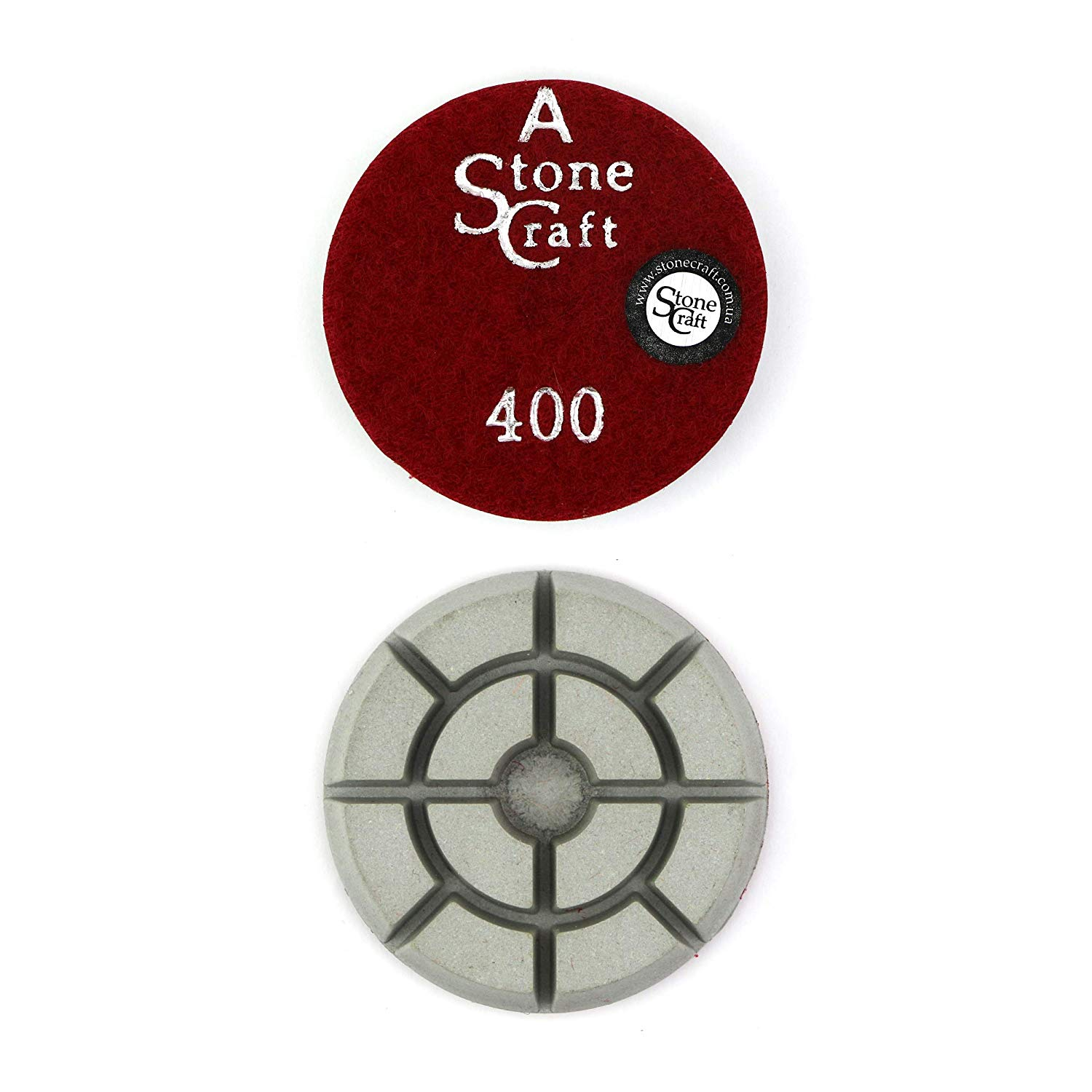 "Stonecraft Diamond Floor Polishing Pads 3"" Inch Grit 400 for Concrete, Marble, Granite, Stone"