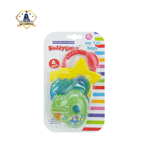 Baby toy training baby teething plastic teether for baby nacklace