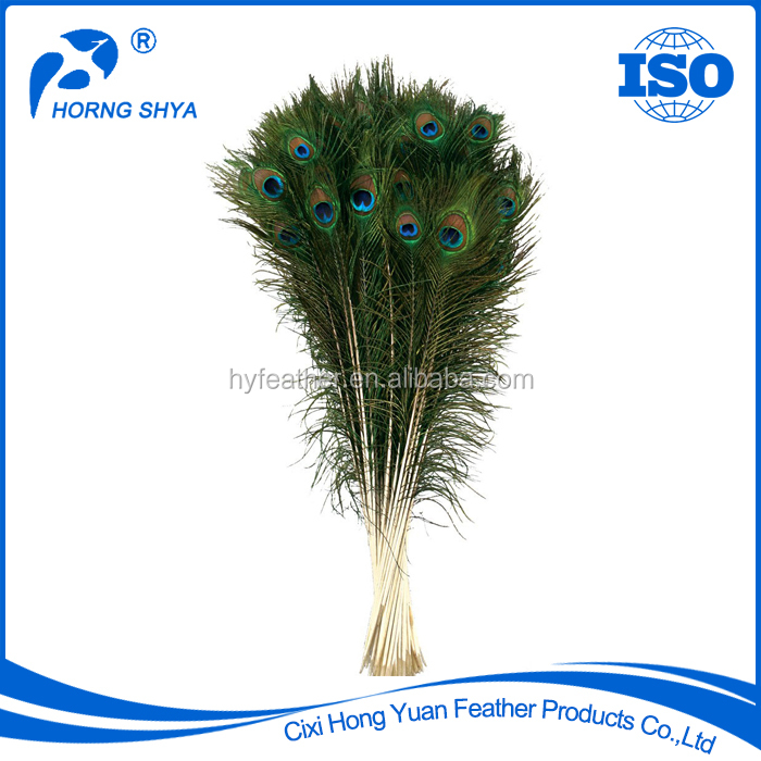 Alibaba China Wholesale Artificial Handmade Dyed Feather For Decoration, Peacock Feather With Varieties Specification