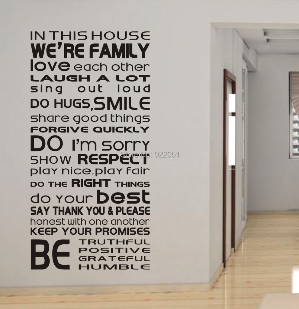Quotes We Love Each Other: Free Shipping In This House We Are Family Love Each Other
