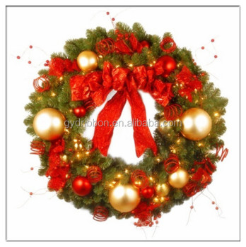 Artificial Christmas Wreaths.Wholesale Artificial Christmas Wreaths With Plastic Balls And Ribbon Bow The Doors And Windows Decoration Christmas Ball Wreath Buy Target