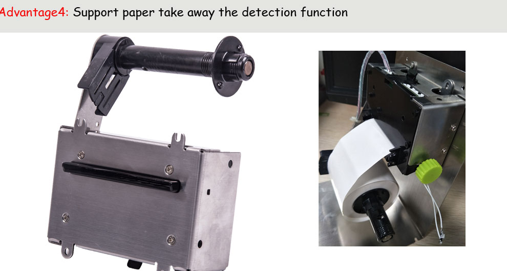 3inch thermal kiosk printer with cutter Support cash drawer control interface and Big diameter roller paper more than the 150mm