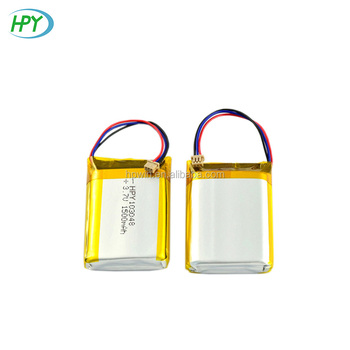 Rechargeable batteries lipo 103048 3.7v 1500mah lithium polymer battery for GPS
