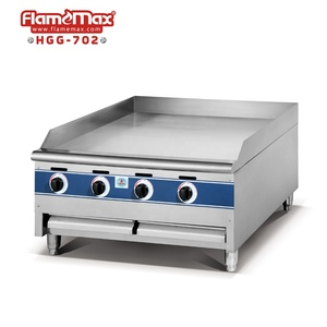 CE/RoHs stainless steel gas griddle with gas fryer