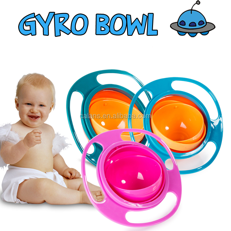 Hot Sale Universal Spill Resistant Gyro Bowl for Kids