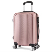 China Fabrik Leichte 20 zoll Rose Gold ABS <span class=keywords><strong>Trolley</strong></span> Reisen Gepäck <span class=keywords><strong>Taschen</strong></span> mit 360 Grad Universal Spinner 4 Räder