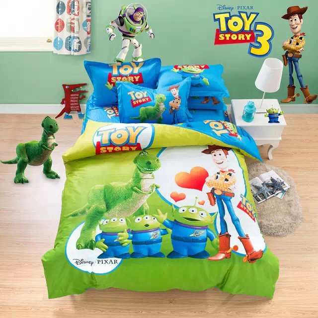 Copripiumino Toy Story.Wholesale Cartoon Kids Bedding Set Twin Queen King Size Comforter