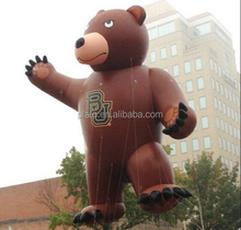 Custom purple cartoon characters,giant inflatable bear