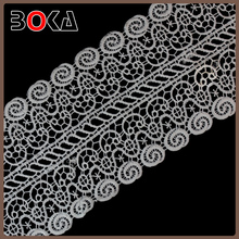 high quality 4 inches width crochet water soluble lace for clothing BK-TRM2781