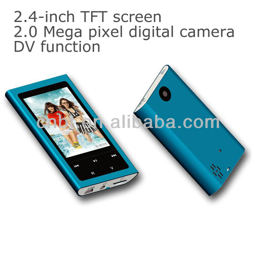 2.4-inch TFT screen mp4 player support 2.0 Mega pixel digital camera, DV function can play more than 5 hours