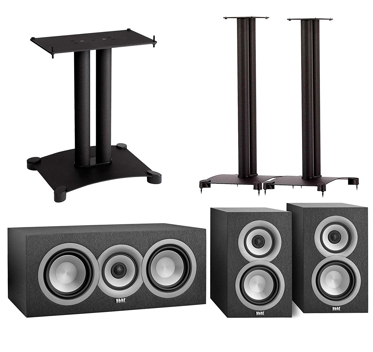 Get Quotations Elac UniFi 30 Speaker System With Stands 1 Pair UB5 Bookshelf Speakers
