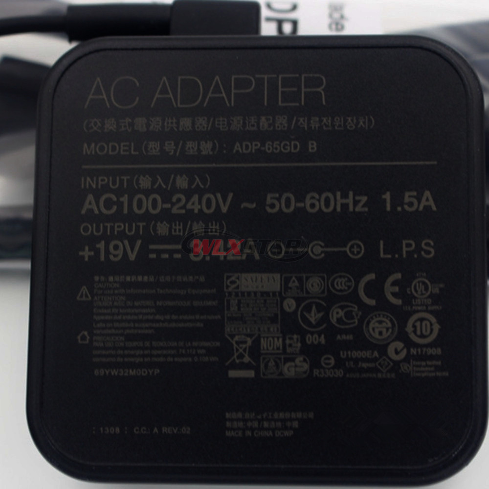Voor ASUS 65 W Nieuwe Originele 19 V 3.42A AC Adapter Oplader PA-1650-78 & ADP-65GD B