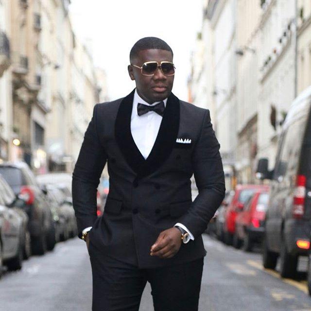2018 New Style Groomsmen Slim Fit Shawl Lapel Groom Tuxedos Black ...