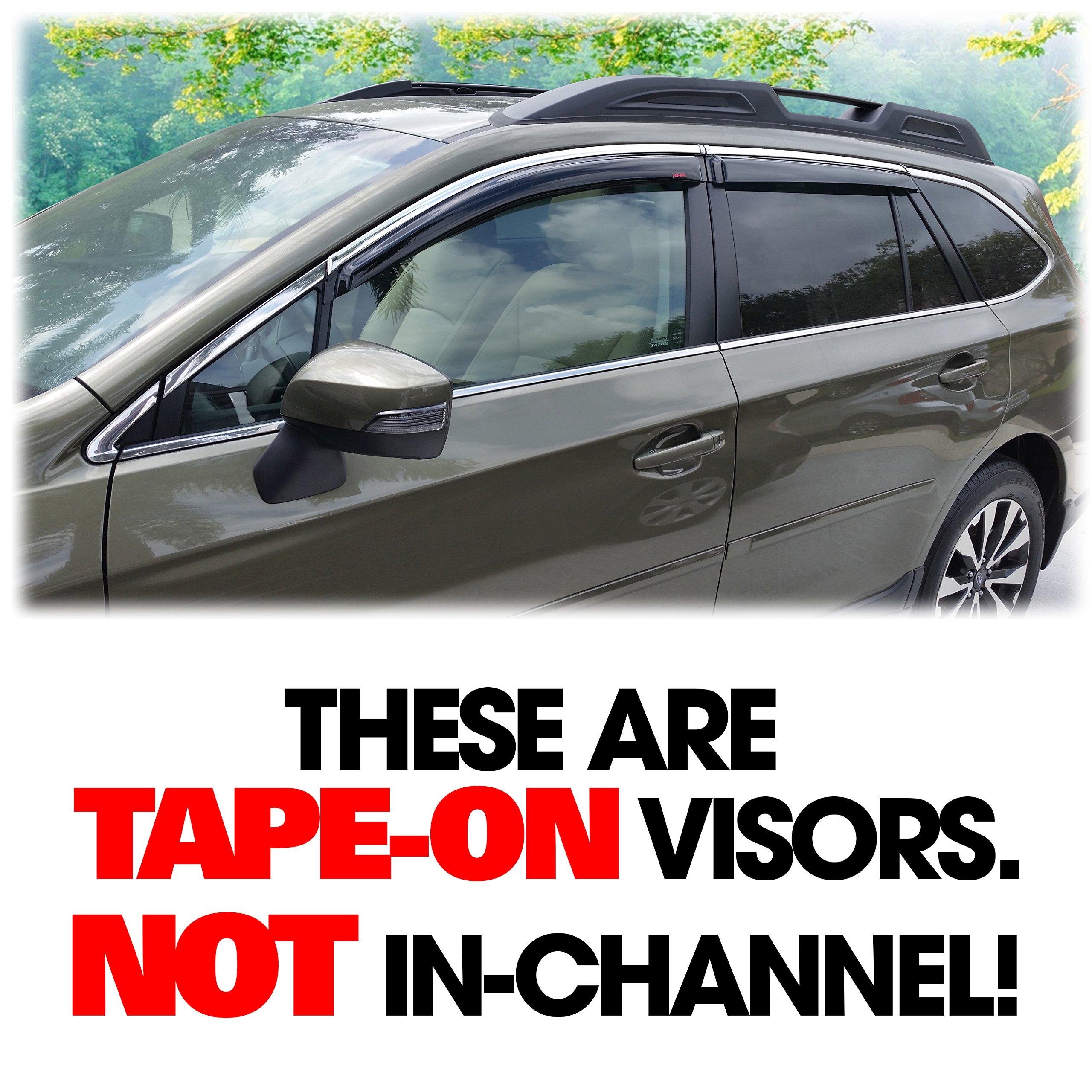 F0010AL500 Genuine OEM Subaru Outback Side Window Deflectors 2015-2018
