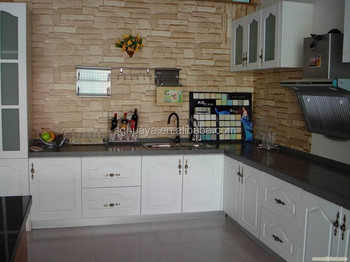 Hot Sales Metal Kitchen Cabinets Sale Cheap Price /PVC Kitchen Cabinet/wholesale  Pvc Mdf