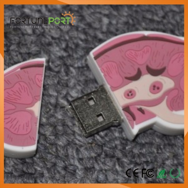 Completely new 3d Kidney Shaped Decorative Usb Flash Drive Custom Usb Drive 32gb  UI54