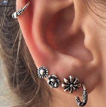 Starbeauty 1 набор, ретро-серьги, поддельный пирсинг Спираль пирсинг для пупка, кольцо для носа, перламутровые серьги, украшение для тела, инструм...(China)
