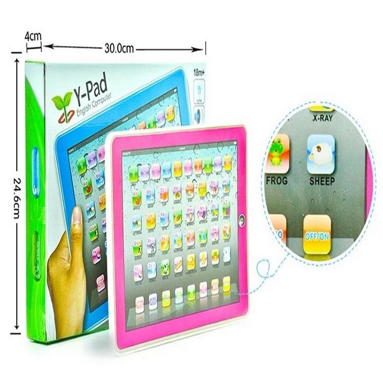 Лидер продаж, многофункциональная сенсорная обучающая машина Y pad на английском языке, Обучающие игрушки с музыкой и светодиодами для детей 2020