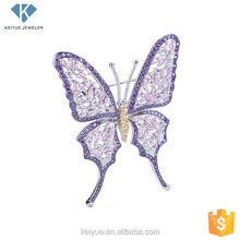 Beautiful Lifelike purple butterfly holiday brooches and hijab pins lapel