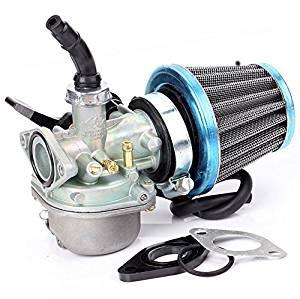 Carburetor PZ19 (right manual choke) + 35mm Air Filter, Fuel Filter, isolater for 50cc 70cc 90cc 110cc ATV Dirt Pit Bike Taotao Honda CRF