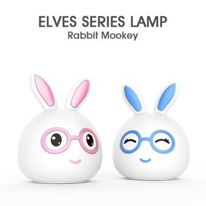 Rechargeable 1200mah battery Silicone LED Rabbit Night Light USB Charging Table Children Lamp