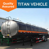 TITAN 3 axles asphalt Heated Bitumen tanker semi trailer