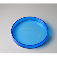 colorful 30mm diameter round acrylic serving tray for food acrylic round plastic food tray