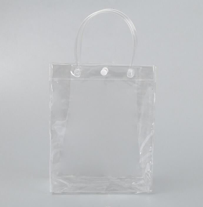 customized durable transparent PVC bag with tote,pvc vanity bag