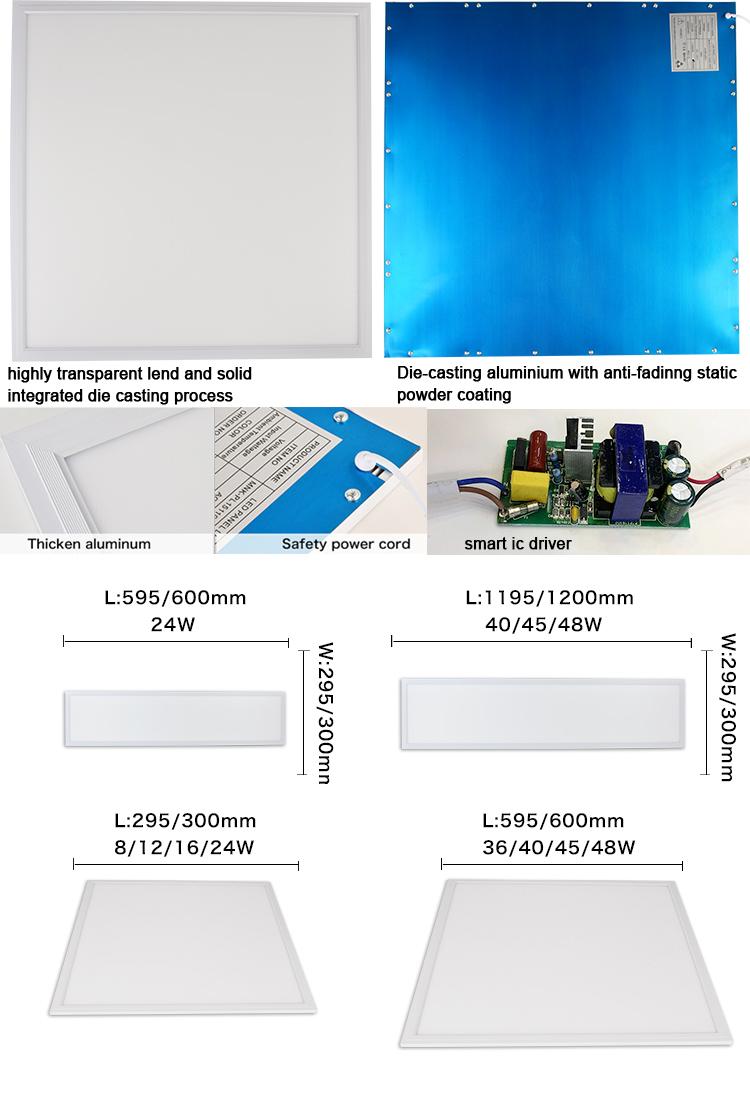 LED フラットパネルライト 48 ワット 600 × 600 Led パネル 2ftx2ft AC90-265V