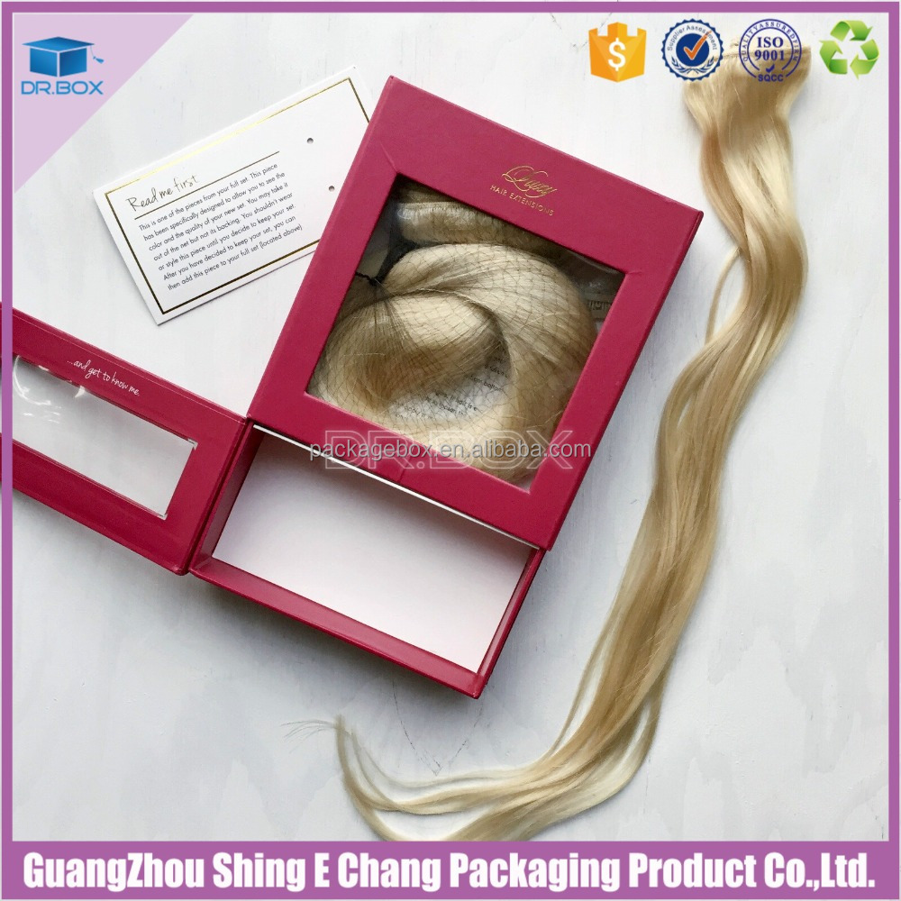 Shipping Box with Custom Logo Hair Extension Box Wholesale Wig packaging