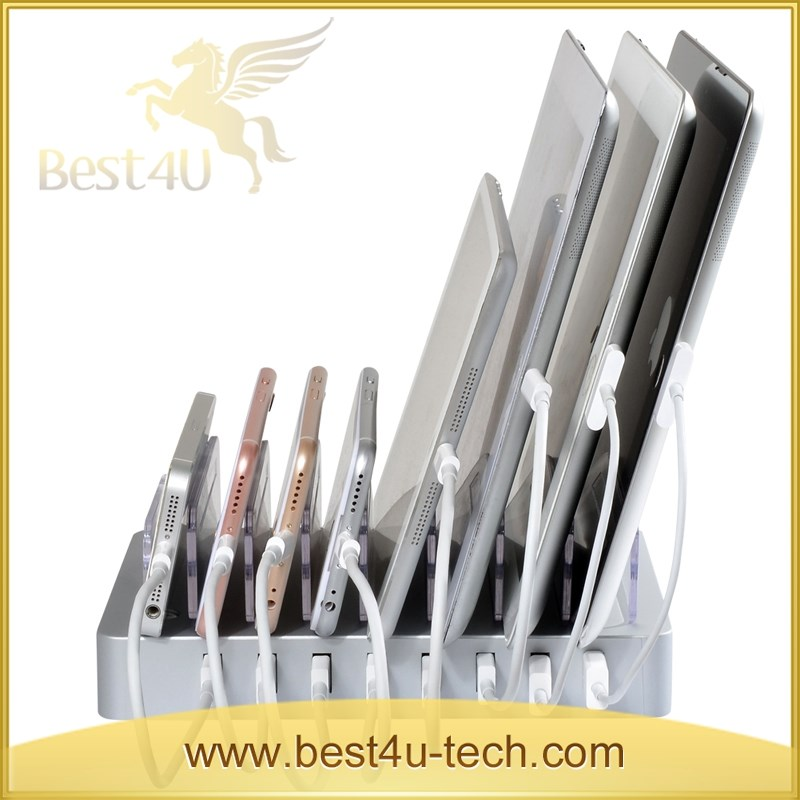 8-Port USB HUB Desktop Charging Station Multi-Device Dock USB Charger Clever Design For Easy Cable Storage