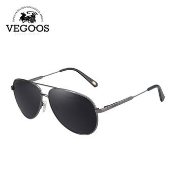 VEGOOS Nova Moda Piloto Pilotos da Aviação Polarized Homens Óculos De Sol  Homem Grife de Moda fc2ce1d239