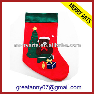 2015 wholesale new style gift wool christmas stocking 2012 christmas stockings