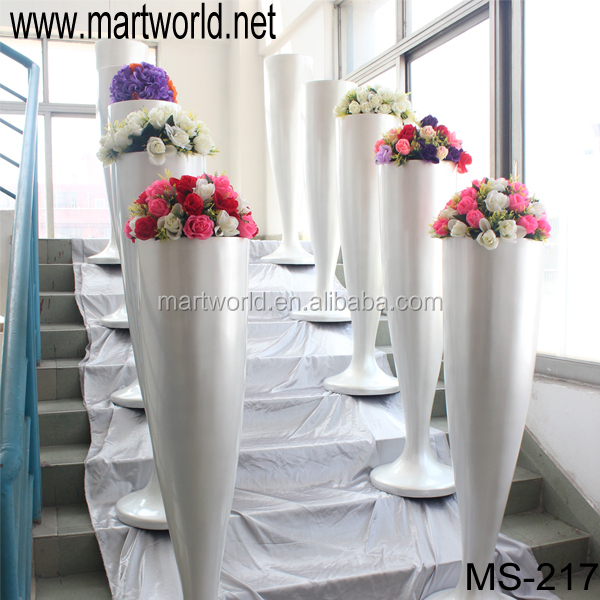Silver Plastic Decorative Wedding Roman Pillars,Resin