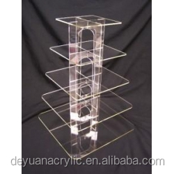 Round 7 tier acrylic cup cake stands 7 step acrylic cake display riser holder