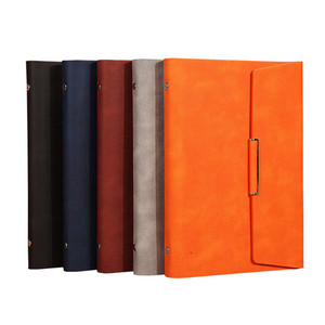 Promotional Custom Soft PU Leather Cover Business Paper Notebook for School Office Writing Supply Elegant Travel Diary Book