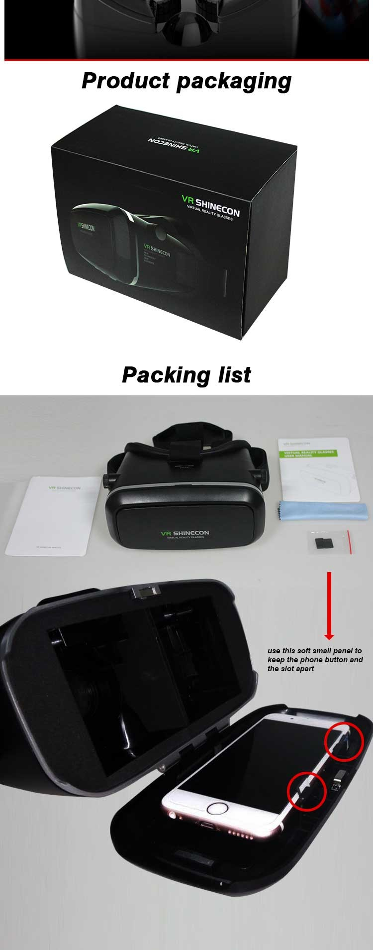 100 Original Vr Shinecon Virtual Reality 3d Glasses Helmet Vr Box Headset For Smartphone 3 5 Inch 6 Inch With Retail Package Phone Products Shenzhen Kelson Technology Co Ltd