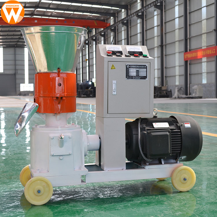 Hot selling China Strongwin Simple Operation small flat die feed pellet mill machine <strong>for</strong> sale